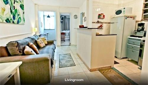 Living Room - Clean, Modern One Bedroom Apartment Close to Beach in Copacabana Next to Ipanema! - Copacabana - rentals