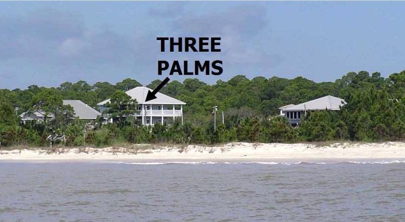 Three Palms Compound from Gulf of Mexico - Three Palms Compound-Beachfront-Pool-Pet Friendly - Port Saint Joe - rentals