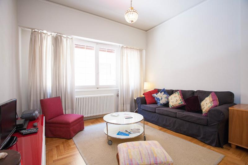 Living Room - Acropolis cozy apt in the heart of Athens wifi A/C - Athens - rentals