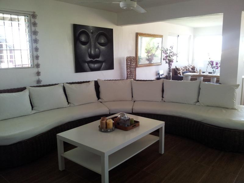 this amazing couch fits 8 people - Design Apartment with roof top terrace  sleeps 6, - Puerto Plata - rentals