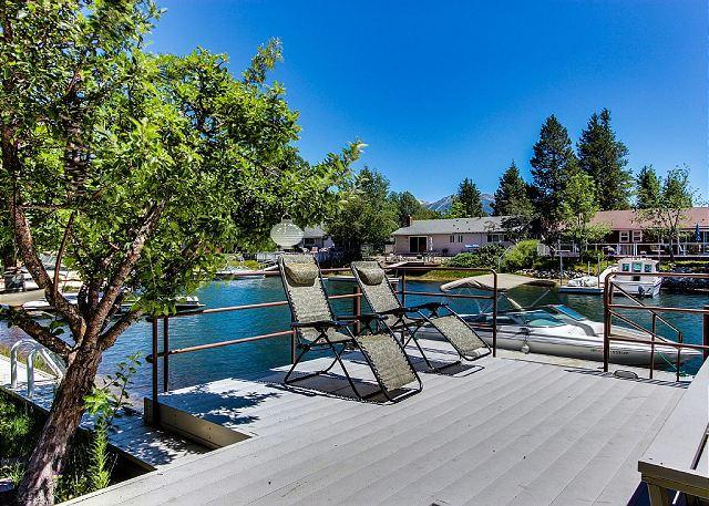 Over-water Deck - Tahoe Keys Home, Waterfront, Boat Dock, Hot Tub, Pool Table, Sauna, Families! - South Lake Tahoe - rentals
