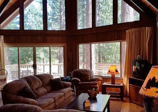 Quintessential mountain cabin with vaulted ceilings and an incre - Relax in this classic Chalet style cabin walking distance from Fly-In Lake! - Arnold - rentals