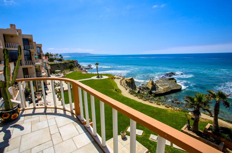 View from the Master bedroom - Baja Oceanfront Condo, Rosarito, Gated - Puerto Nuevo - rentals