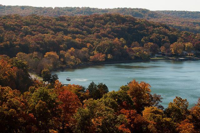 prime perch for viewing the fabulous fall colors - Fall Colors Specials 50% OFF BOAT RENTALS - Lake Ozark - rentals