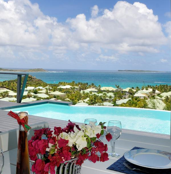 Villa Dolce Vita - Orient Beach St Martin...rent as 1 BR or 2 BR...800 480 8555 - DOLCE VITA... 2 BR with breathtaking views over Orient Bay ... Sweet Villa!! - Orient Bay - rentals