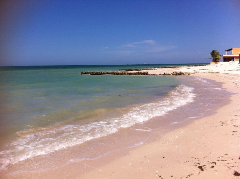 Beautiful Beach steps from the front door - Charming Beachfront House - Yucatan - rentals