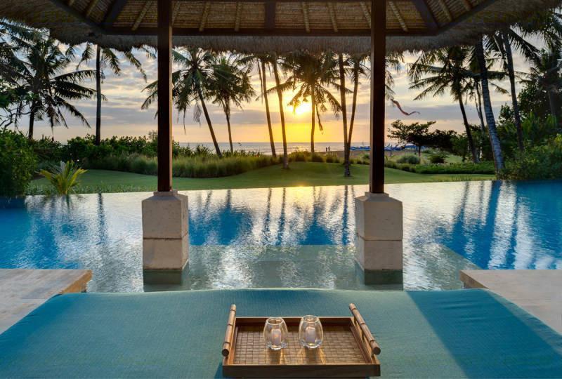 Sunset from the Pool Bale at Villa Arika, Canggu, Bali - Beachfront Canggu Bali Villa Arika luxury 4 bdrm - Canggu - rentals