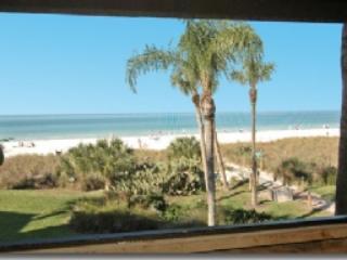 View to beach from lanai - Firethorn 323 - Siesta Key - rentals