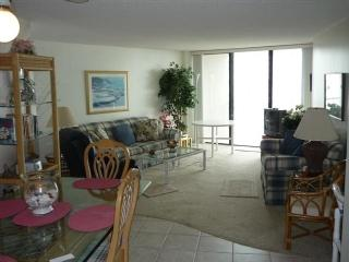 Living area - Charming and comfortable beachfront condo overlooking the Gulf waters - Marco Island - rentals