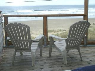 Oceanfront, spectacular views, fireplace. deck, charcoal BBQ. WiFi, DSL - Arch Cape vacation rentals