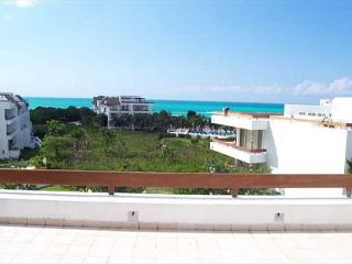 Beachfront San Francisco Beach.  Elevator. Private Rooftop Tub. Internet - Cozumel vacation rentals