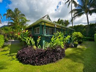 Hanalei beachfront home, famous Pine Trees surf spot is just outside the door - Hanalei vacation rentals
