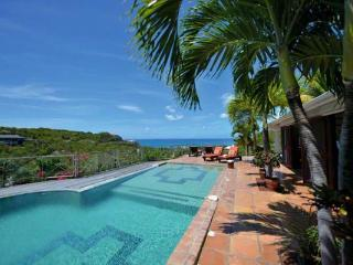 Take in the view over the pool to Anguilla and the Caribbean Sea. C PEA - Terres Basses vacation rentals