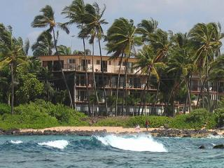 View of Prince Kuhio from Beach in Front - Prince Kuhio 211, Oceanside at Poipu Beach - Poipu - rentals