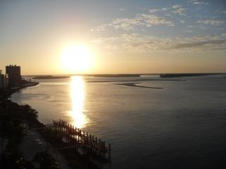 View of the beautiful sunrise from our lanai - Marco Island Rental at Cape Marco Ocean Front Gem - Marco Island - rentals