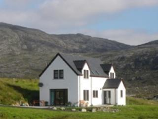 Croft Cottage with North Harris hills behind - Croft Cottage - Isle of Harris - rentals