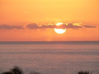 Sunset View From Lanai - Kihei Akahi D504        Panoramic Ocean View Condo - Kihei - rentals