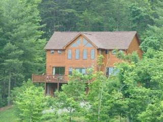 Enjoy the sunrise from the deck or patio of the cabin - Mineral Bluff vacation rentals