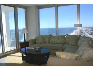 great pic of couch and view - A-1 perfect day & Sunset view at Island Tower 2403 - Gulf Shores - rentals