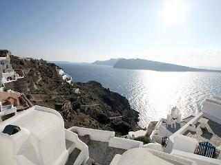 honeymoon house on cliff in oia castlle - Oia vacation rentals