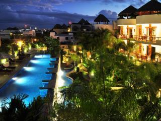 Night view shows the beauty of Porto Playa - Porto Playa Condo/hotel 100 Steps from beach 216 - Playa del Carmen - rentals