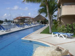 pool view from PB008 - **Luxurious Waterfront Mexican Villa/ Prime locale - Puerto Aventuras - rentals