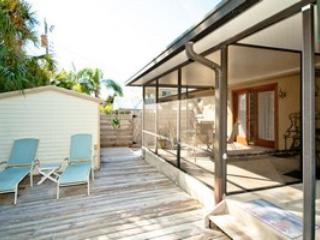 Outside deck - 305 B 62nd Street - Holmes Beach - rentals