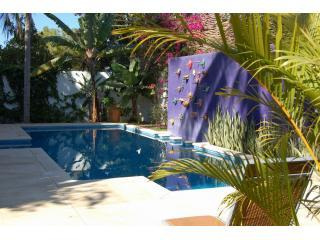 Fountain wall from gardens - Two Stunning Homes By Beach:  3br Azul & 2br Roja - Bucerias - rentals