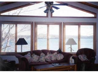 Lake view from great room - Luxurious 3600 SqFt Lakefront Modern Home Cape Cod - Mashpee - rentals
