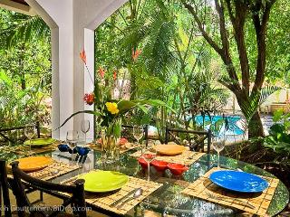 Classy beach condo- modern/tropical furnishings, kitchen, a/c, private patio - Tamarindo vacation rentals