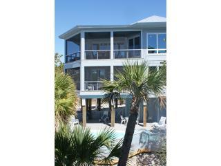 Fabulous gulf views from screened deck - North Captiva New Lux Beach Front Home w/ Pool/Spa - Captiva Island - rentals