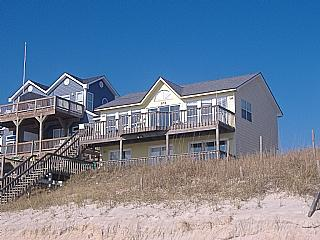 Oceanfront View of Home - Just Beachin' It, 304 S. Shore Dr., Surf City - Last Minute Getaway Special!! - Surf City - rentals