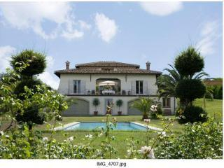 view with the pool - Villa Romana w/16 m pool, luxury 25km from Rome - Campagnano di Roma - rentals