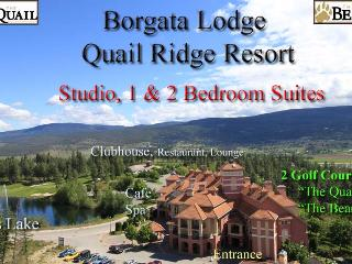 Borgata Lodge  Resort Condos - Studio,1 & 2 BR - Kelowna vacation rentals