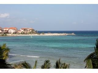 Breathtaking Views from terrace- sailboats during day and at night you can see Cozumel! - Best Beach View in Puerto Aventuras - Puerto Aventuras - rentals