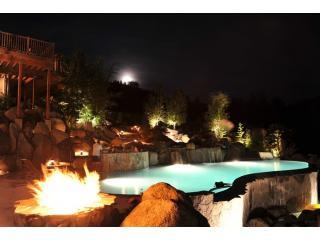 The infinity pool and fire pit - Private Mountain Resort  with Infinity Pool - Leavenworth - rentals