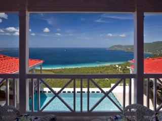 Sunny villa with a wide view of neighboring islands and the sea. MAT SUP - Tortola vacation rentals