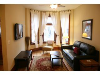Living Area: Leather pullout, HDTV, DVD, Cable, Wireless Intern - Luxurious Condo in Perfect Location...Sleep 8 - Chicago - rentals