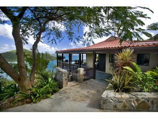 House View Drive Shot Don H - Into The Mystic Villa  Views!! Views!! Views!! - Coral Bay - rentals