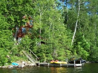 View of cottage from the lake - Eagle's Rest; Damariscotta Lake, Jefferson, Maine - Jefferson - rentals
