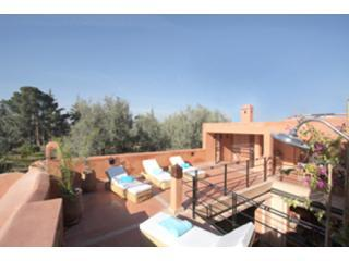 stunning roof terrace over the mamounia gardens - Riad Dar Rabia Marrakech Medina - Marrakech - rentals