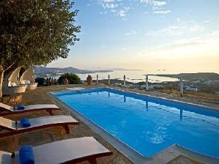 Chic Villa Althea 5 on 86,000 ft² estate with sublime sunset views & sleek pool - Paros vacation rentals
