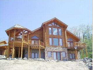 Timber Ridge Exterior - Stunning Handcrafted Log Home - Sunday River Maine - Newry - rentals