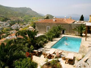 Luxury 6 bedroom Hydra villa pool stunning views - Hydra vacation rentals