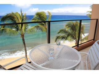 View from Mahana Lanai - Mahana at Kaanapali Oceanfront Studio- Best Views! - Ka'anapali - rentals