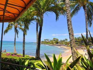 Oceanfront Sunny Poipu Ground Level Large Lanai! - Poipu vacation rentals