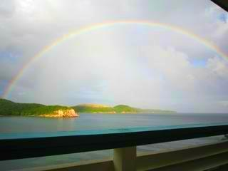 Rainbow Greeting Upon Arrival - Relax 4 Us at Bolongo Bay ~ USVI - Charlotte Amalie - rentals