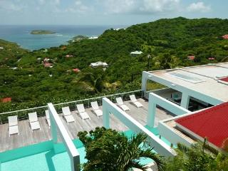 Hillside villa with a sprawling view over countryside & ocean WV JNM - Toiny vacation rentals