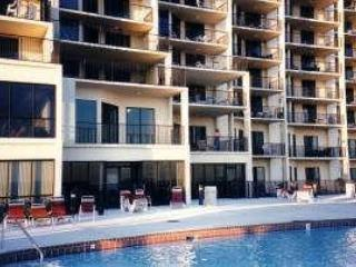 Oversized balcony overlooking pool (1 above ground level) - Orange Beach, Beach Front Condo - Orange Beach - rentals