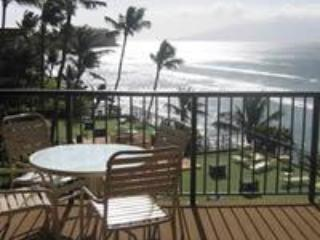 View From Lanai- Ocean Front - Maui Oceanfront Condo - Lahaina - rentals